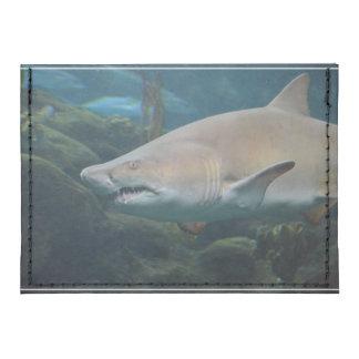 Scary Great White Shark Tyvek® Card Case Wallet