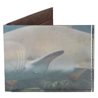 Scary Great White Shark Tyvek Wallet