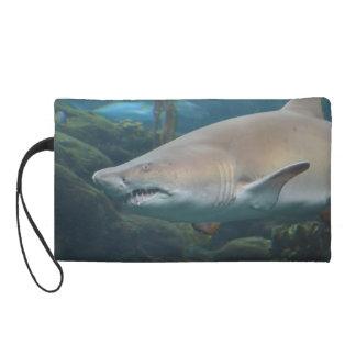 Scary Great White Shark Wristlet Purses