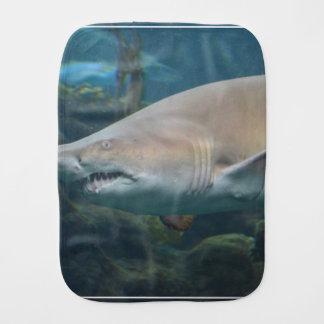 Scary Great White Shark Baby Burp Cloth