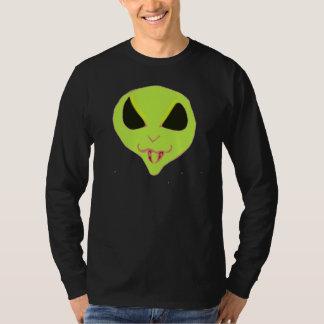 Scary green Alien face fangs Shirts