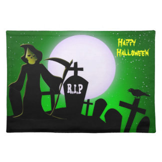 Scary Grim Reaper Halloween Decorative Place Mat