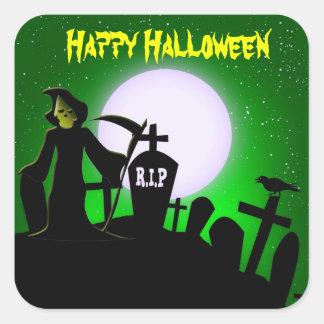 Scary Grim Reaper Halloween Decorative Square Sticker