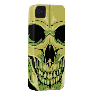 Scary Grinning Green Skull iPhone 4 Case