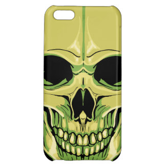 Scary Grinning Green Skull Case For iPhone 5C