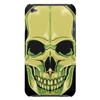 Scary Grinning Green Skull iPod Case-Mate Case