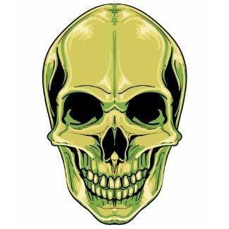 Scary Grinning Green Skull shirt