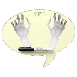 Scary gruesome monster hand with long nails art Dry-Erase board