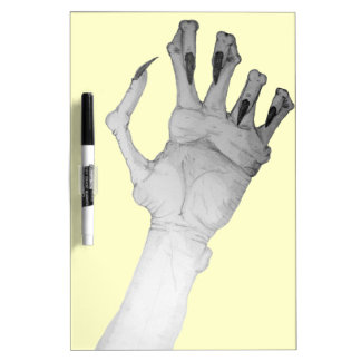 Scary gruesome monster hand with long nails art dry erase board