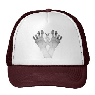 Scary gruesome monster hand with long nails art mesh hat