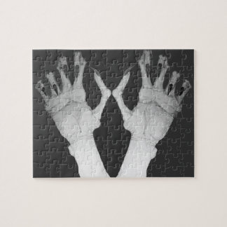 Scary gruesome monster hand with long nails art jigsaw puzzle