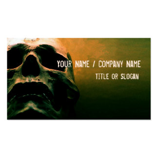 Scary grunge cool skull business card