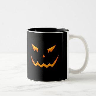 Scary Halloween 2009 Pumpkin Face Coffee Mugs