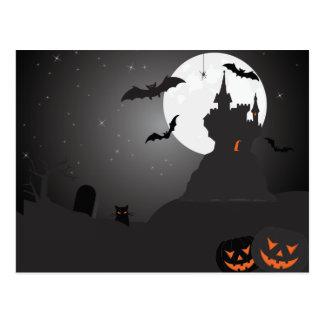 Scary Halloween Bacground Postcard