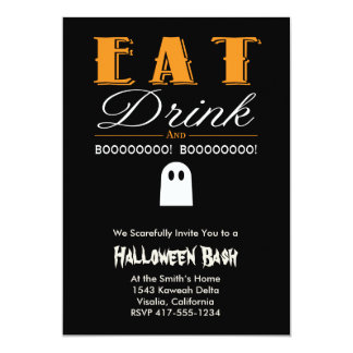 Scary Halloween Bash Party Invitation