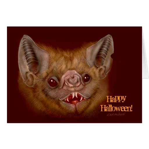 Scary Halloween Bat Card Halloween Party Invites