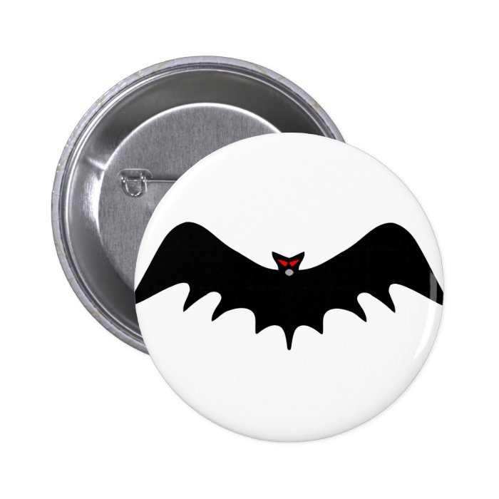 Scary Halloween Bat Pinback Button