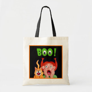 Scary Halloween Boo Budget Tote Bag