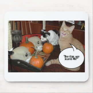 Scary Halloween Cats Mousepads