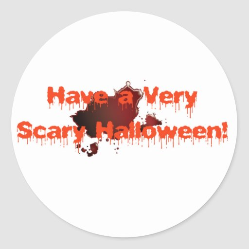 Scary Halloween Classic Round Sticker