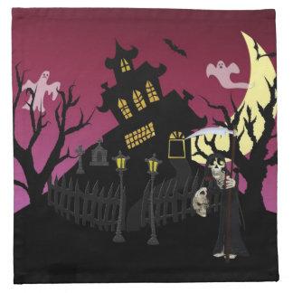 Scary Halloween Cloth Napkin