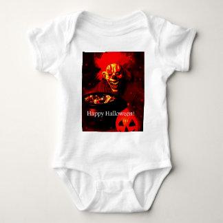 Scary Halloween Clown Design Baby Bodysuit