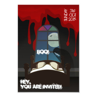 Scary Halloween Costume Cocktail Party Invitation