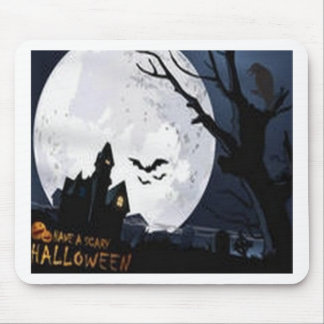 Scary Halloween design Mouse Pad