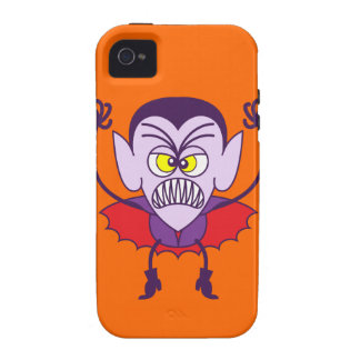 Scary Halloween Dracula Emoticon iPhone 4 Cover
