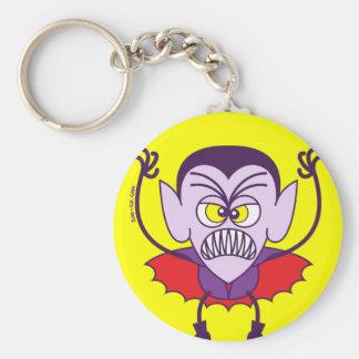 Scary Halloween Dracula Emoticon Key Chains