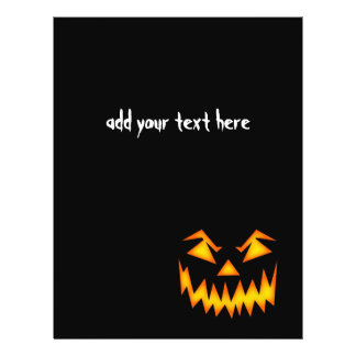 "Scary Halloween Face 8.5"" X 11"" Flyer"