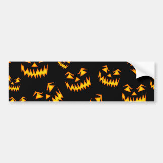 Scary Halloween Faces Bumper Sticker