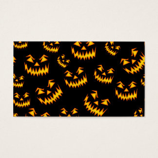 Scary Halloween Faces Business Card