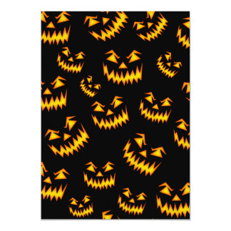 Scary Halloween Faces Card