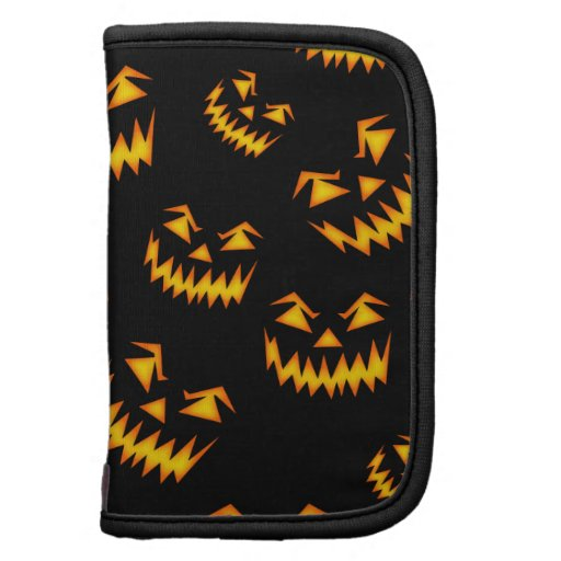 Scary Halloween Faces Folio Planners