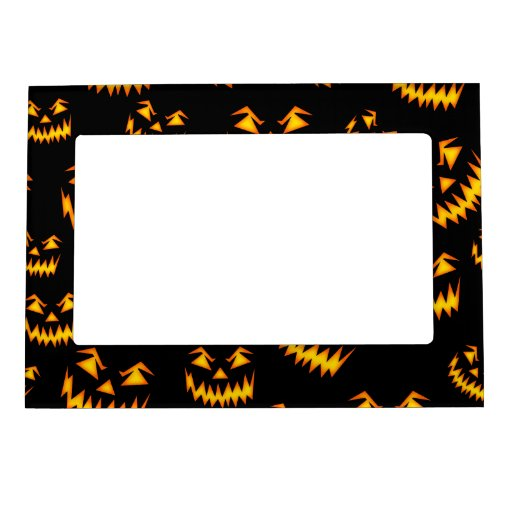 Scary Halloween Faces Magnetic Photo Frames