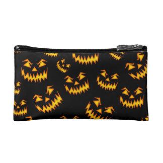 Scary Halloween Faces Makeup Bag