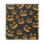 Scary Halloween Faces Memo Pad