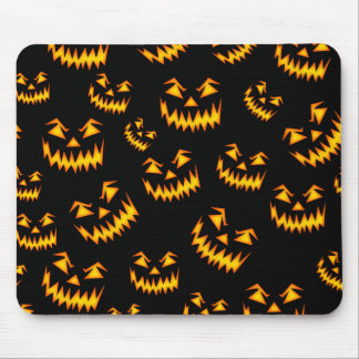 Scary Halloween Faces Mouse Pad