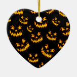 Scary Halloween Faces Ornaments