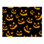 Scary Halloween Faces Post Cards