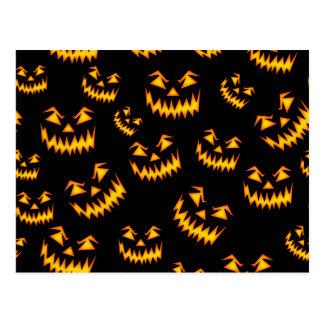 Scary Halloween Faces Postcard