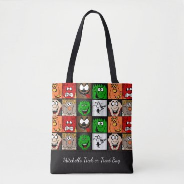 Halloween Themed Scary Halloween Faces Tote Bag