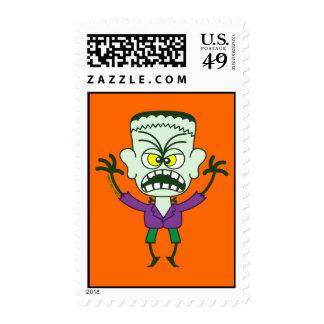 Scary Halloween Frankenstein Emoticon Stamps