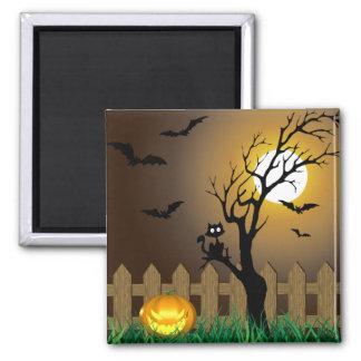 Scary Halloween Garden Scene - Magnet
