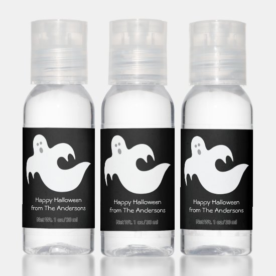 Scary Halloween Ghost Party Favors Hand Sanitizer