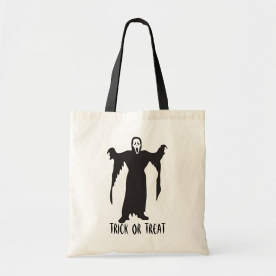 Scary Halloween Ghost Trick or Treat Tote Bag