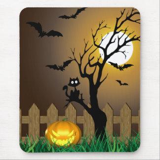 Scary Halloween Illustration - Mousepad