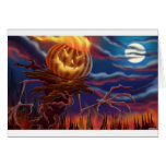 Scary Halloween Jack-O-Lantern Cards