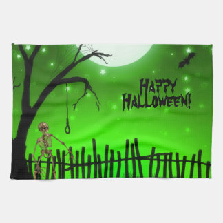 Scary Halloween Hand Towels